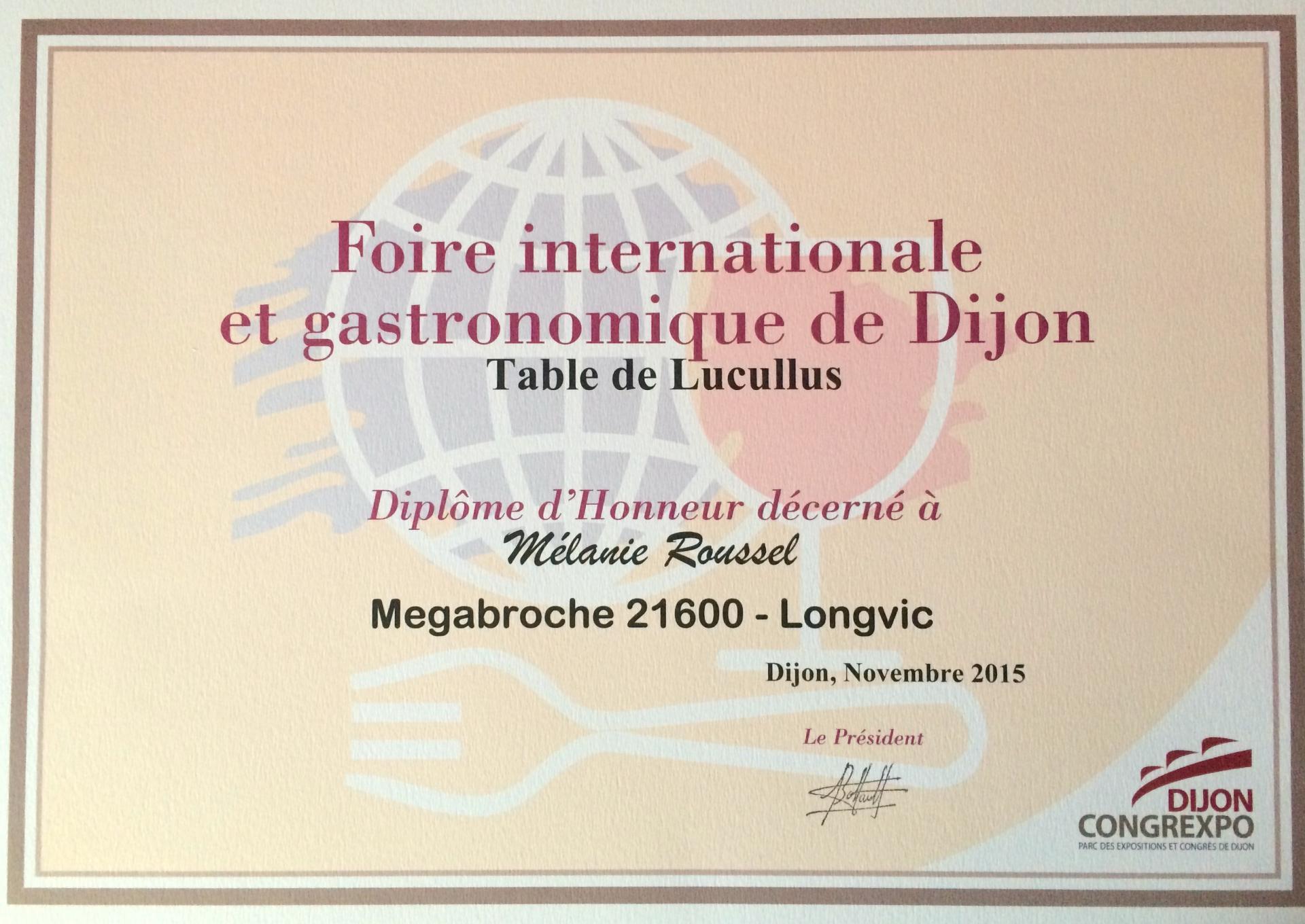 Foire internationale gastronomique de Dijon